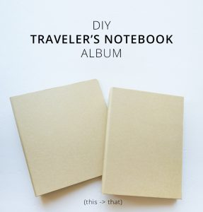DIY Traveler's Notebook Album